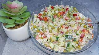 Салат ко дню влюбленных. #салат #готовим #рецепты