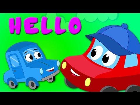 Hallo Lied | Kinderreime auf Deutsch | Auto für Kinder | Hello Song | Rhyme For Kids | Baby Song