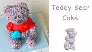 Скачать Как сделать кремовый 3Д торт медведь Одежда для мишки тедди Cake 3D Cream Teddy Bear