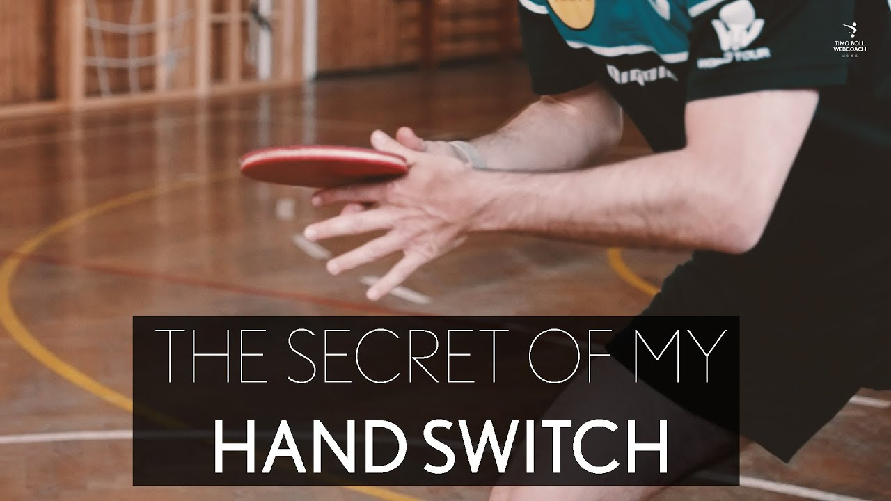 The secret of my hand switch - the most difficult shot in table tennis
