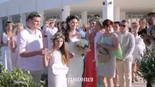 Элегантная свадьба в античном стиле Ирины & Андрея в Греции