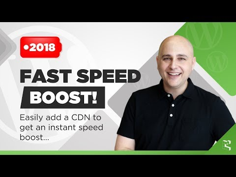 How To Speed Up Your WordPress Website With A CDN Content Delivery Network (2018) - 동영상