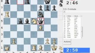 Chess World.net: LIVE Blitz #1768 vs Zil (IM) 2254 - Sicilian: Canal-Sokolsky (B51) (Chessworld.net)