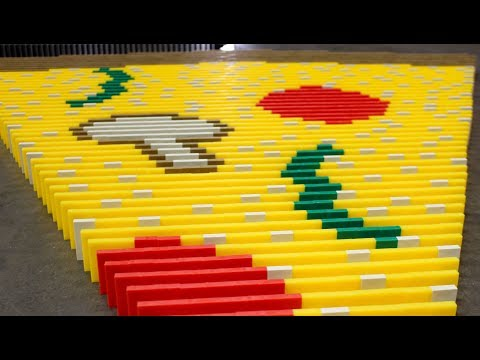 WORLD'S LARGEST PIZZA made of DOMINOES! (feat. Pizza Hut)