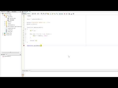 NetBeans PHP Tutorial - Quicksort Algorithm #16