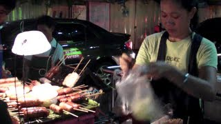 Bangkok Street Food by Night. Satay. Thailand.