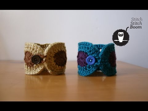 Crochet Tutorial Boho Inspired Wrist Cuff Youtube