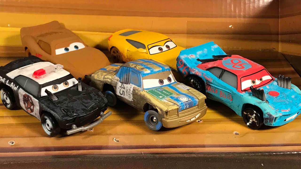 Cars 3 mattel thunder hollow 5 pack t bone apb fishtail lightning mcqueen disney die cast - Coloriage cars 3 thunder hollow ...