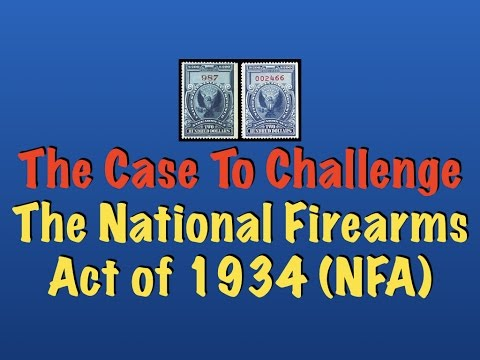 The Case That Will Challenge The National Firearms Act of 1934