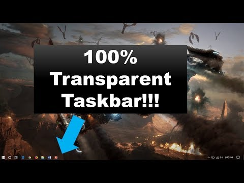 How To Make Your Taskbar Completely Transparent