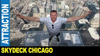 Skydeck Chicago 103rd floor of the former Sears Tower clear observation boxes by Jarek Illinois USA