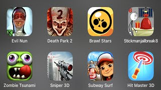 Evil Nun, Death Park 2, Brawl Stars, Stickman Jailbreak8, Zombie Tsunami, Subway Surf, Hit Master 3D screenshot 4
