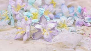 Цветы лилии из бумаги своими руками !!! Lily flowers from paper the hands