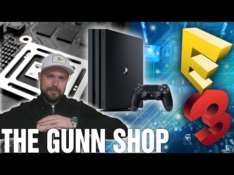 PS4 PRO BOOST vs XBOX SCORPIO ★ E3 OPEN TO PUBLIC (The GUNN Shop)