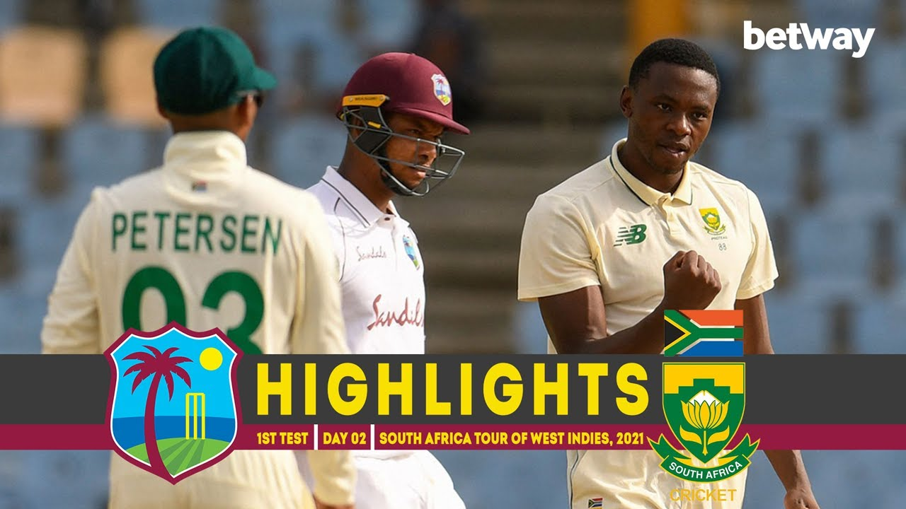 West Indies vs South Africa | 1st Test | Day 02 | South Africa tour of West Indies, 2021