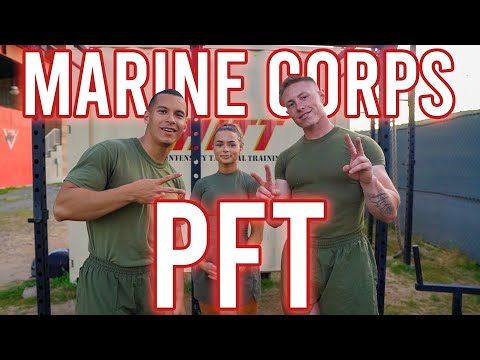 US Marine Fitness Test - How To Score 300 On The PFT (Pullups, Crunches, 3-Mile Run)