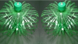 DIY /Empty plastic bottle vase making craft water bottle recycle flower vase