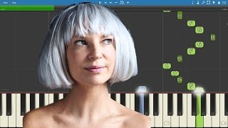Sia ft Miguel , Queen Latifah - Satisfied Piano Tutorial - Hamilton mixtape
