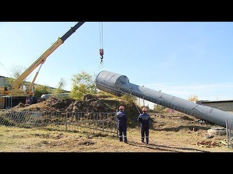 В Рудне установили новые водонапорные башни