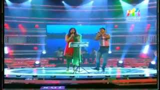 shwetha mohan and siyad singing at josco indian voice....