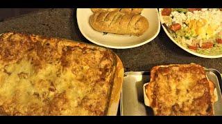 Easiest Homemade Pasta Lasagna Dinner!
