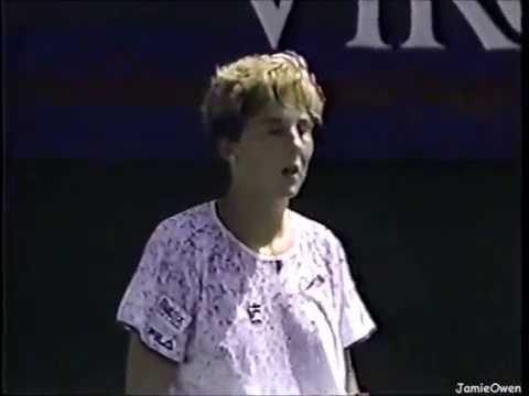 Monica Seles Vs Kimiko Date 1991 Los Angeles Highlights