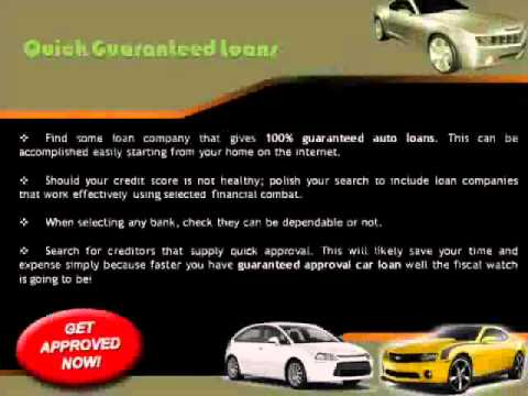 Guaranteed Car Finance Dealers Provides Auto Loans Guaranteed