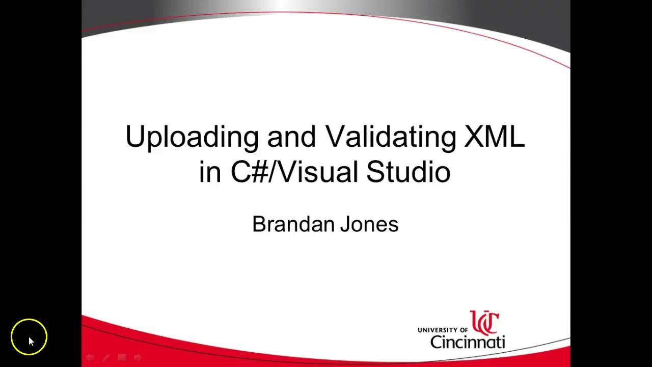 Validating xml c# tutorial