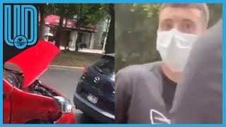 El atacante del América chocó cerca de las inmediaciones del Nido; el futbolista salió ileso