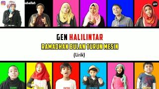 Ramadhan Bulan Turun Mesin Lirik - Gen Halilintar (Terbaru 2020) | Gen Halilintar Song Lirik