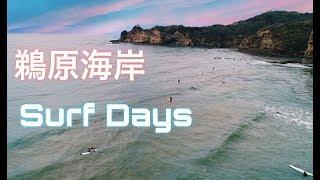 勝浦「 鵜原海岸サーフィン」ドローン空撮 4K Drone Japan Surf