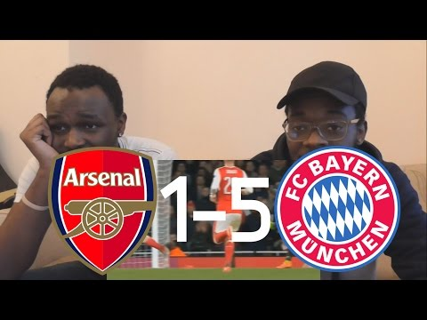 Arsenal Fan React To: Arsenal vs Bayern Munich 1-5 All Goals Extended Highlights Champions League