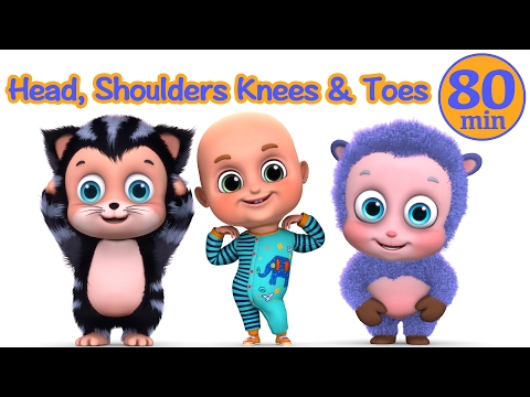 Head Shoulders knees and Toes - Nursery Rhymes Education and Parenting Compilation from Jugnu Kids