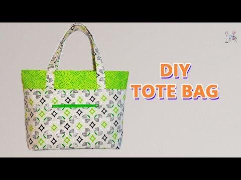DIY TOTE BAG | Bag Making Ideas | Bag Sewing Tutorial |  Coudre un sac | Bolsa de bricolaje