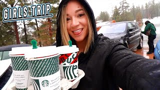 girls trip to big bear: tik toks, starbucks, and gingerbread houses! vlogmas day 4