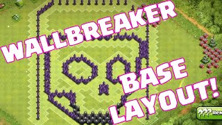Clash Of Clans Wallbreaker Base Defense Layout | Clash Of Clans TH8 Wallbreaker Layout