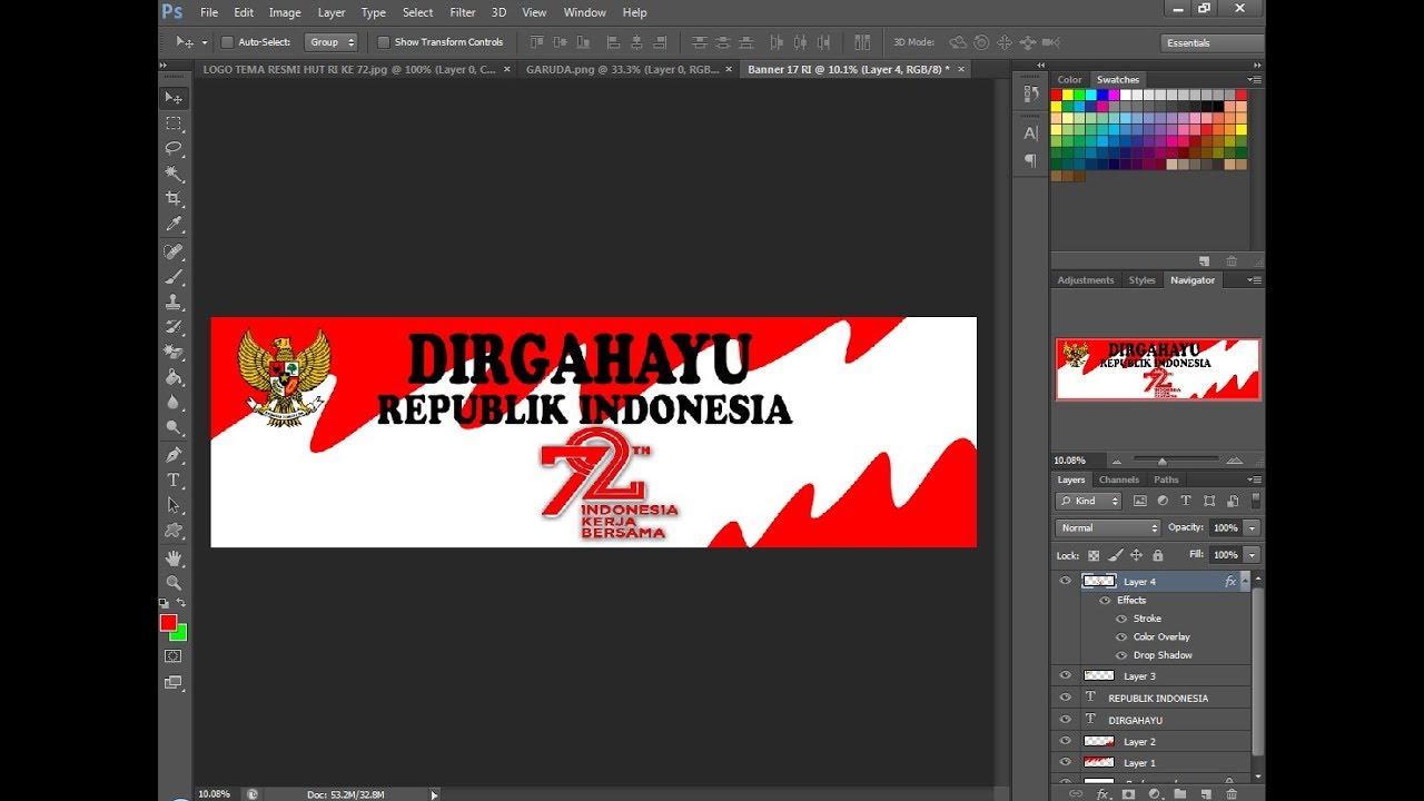 Cara Mudah Membuat Banner 17 Agustus