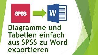 Diagramme und Tabellen einfach aus SPSS zu Word exportieren