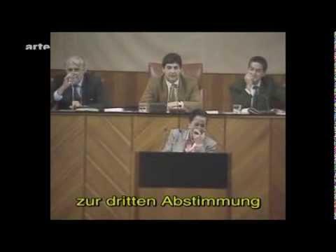 Lachanfall im andalusischen Parlament (1994)