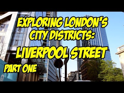 Strolling Around Liverpool Street London 2018