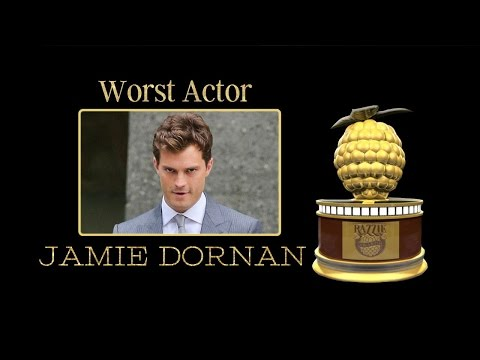 36th Razzie Worst Actor   Jaime Dornan
