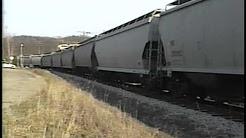 P&WV HiLine Video Grain Train at Castle Shannon, PA  Aug 1998