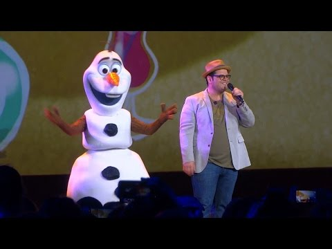 Josh Gad and Olaf perform