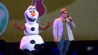 Josh Gad and Olaf perform