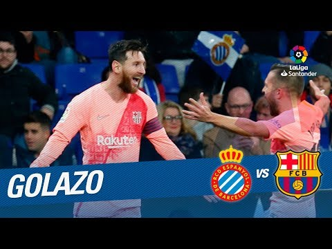 Golazo de Leo Messi (0-4) RCD Espanyol vs FC Barcelona