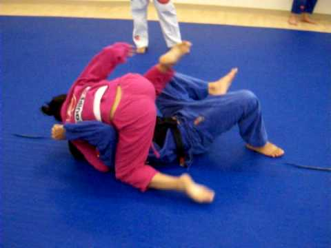 sparring, rebecca vs prof jerry