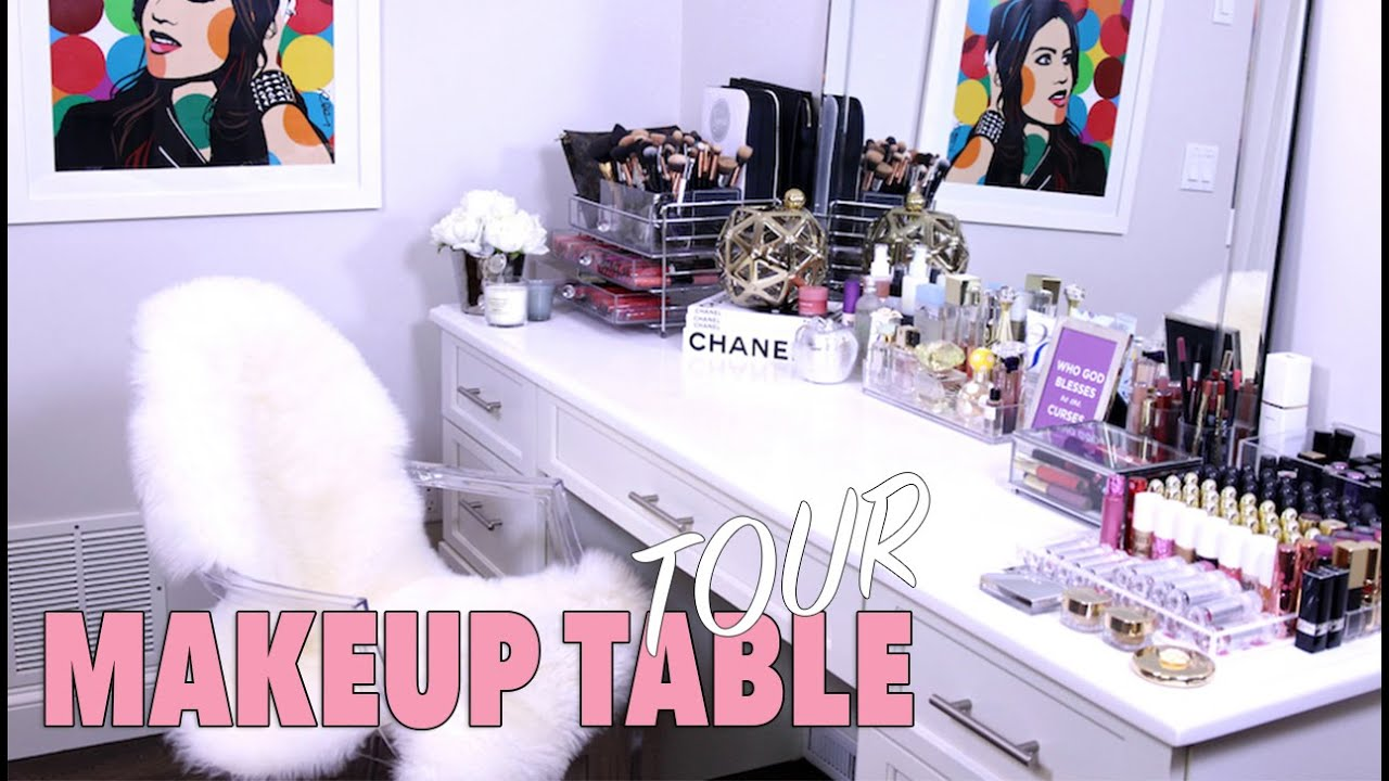 Makeup table TOUR - How I organize it!