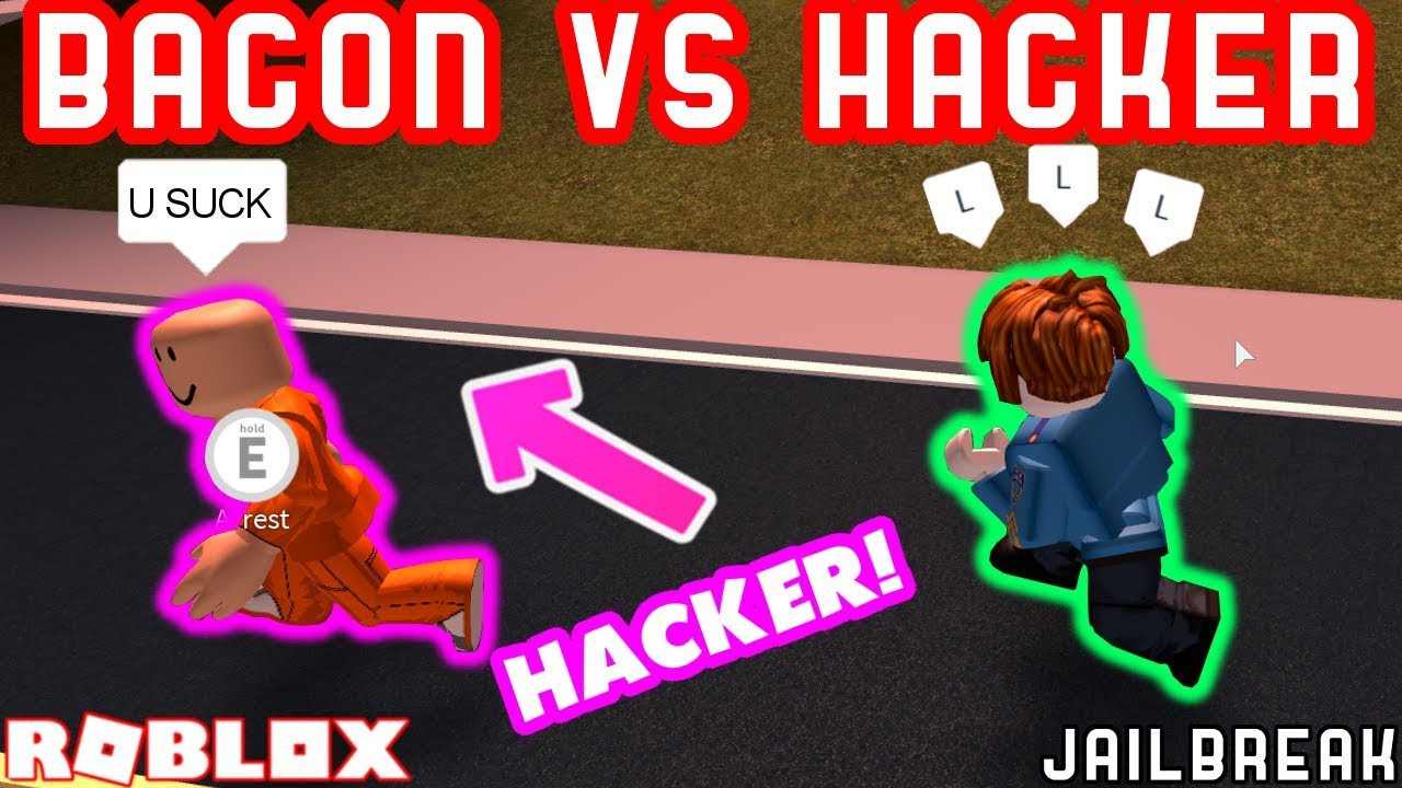 Roblox Hackers In Jailbreak Bacon Hair Vs Hackers Roblox Jailbreak Bounty Hunting 1337 Youtube