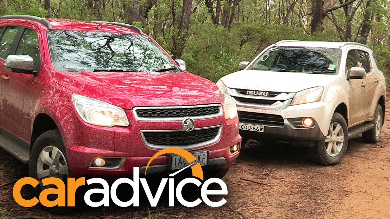 Isuzu MU-X v Holden Colorado 7 Review - YouTube