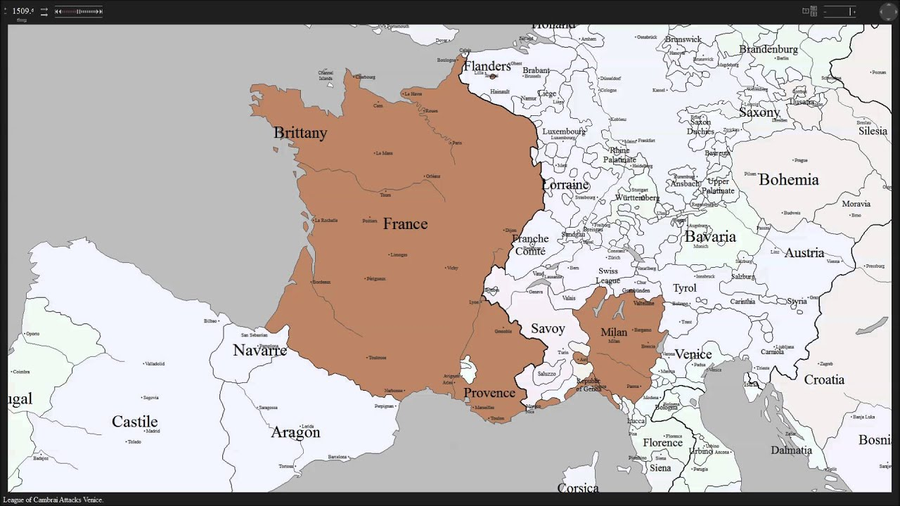 History map of france youtube history map of france gumiabroncs Choice Image